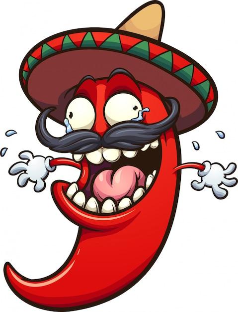 Piment mexicain Vecteur Premium