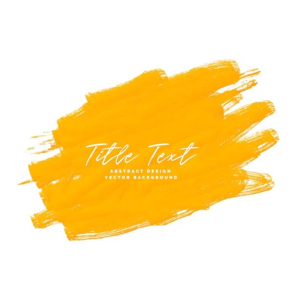 Pinceau aquarelle jaune Vecteur Premium