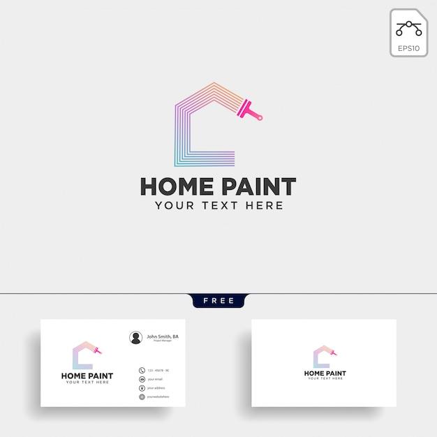 Pinceau logo coloré modèle élément icône vecteur Vecteur Premium