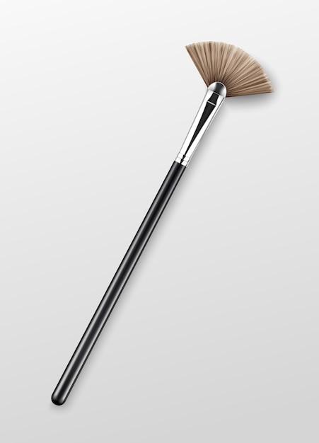 Pinceau Surligneur De Maquillage Professionnel Propre Vecteur Premium
