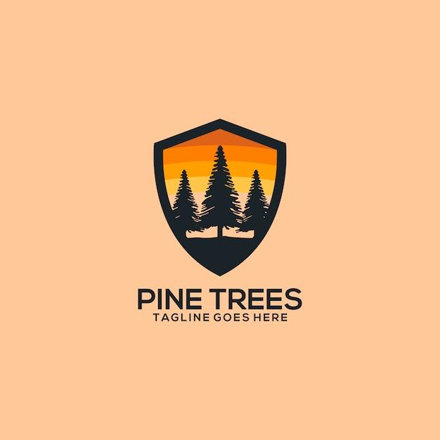 Pine logo Vecteur Premium