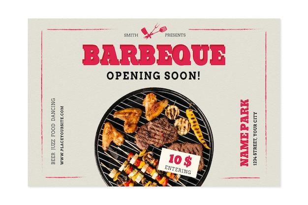 Pique-nique Barbecue Avec Différents Types De Viande Vecteur gratuit