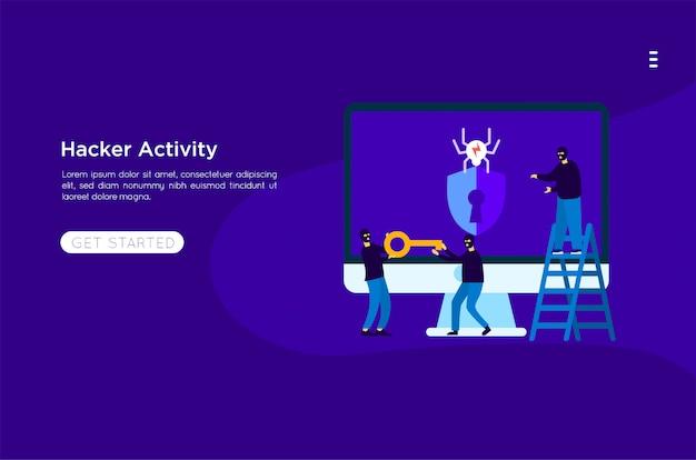Pirate voler illustration Vecteur Premium