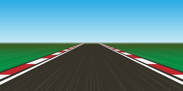 Piste de course, route route. Vecteur Premium