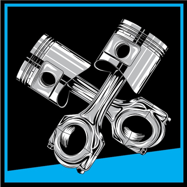 Piston Vecteur Premium