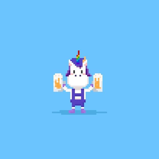 Pixel Licorne Remonter Le Moral Télécharger Des Vecteurs