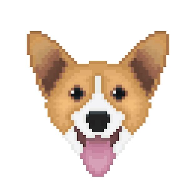 Pixel Pembroke Welsh Corgi Chien Télécharger Des Vecteurs