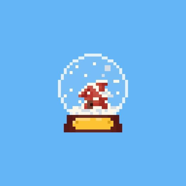 Pixel Petite Maison Dans La Boule à Neige Télécharger Des