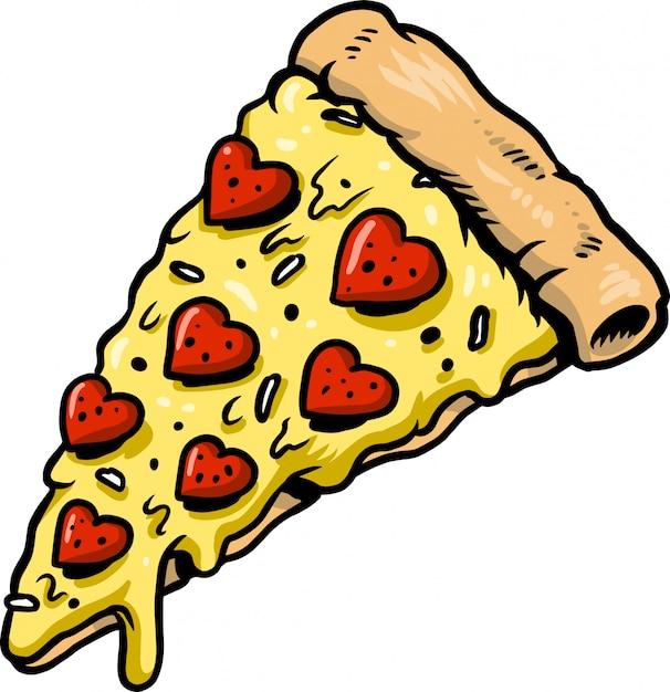 Pizza d'amour Vecteur Premium