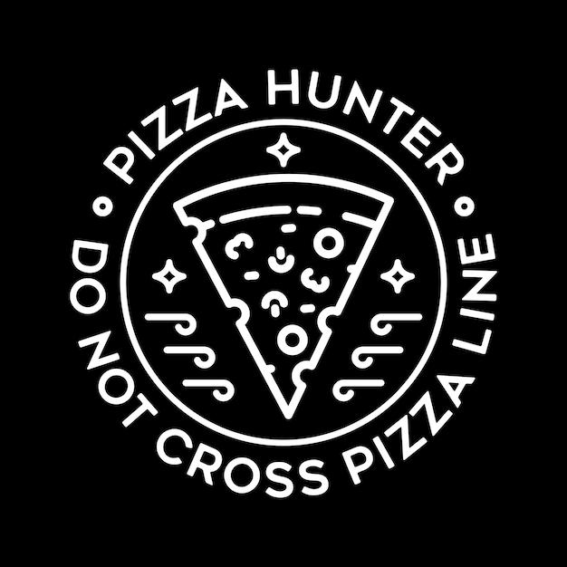 Pizza Line Vecteur Premium