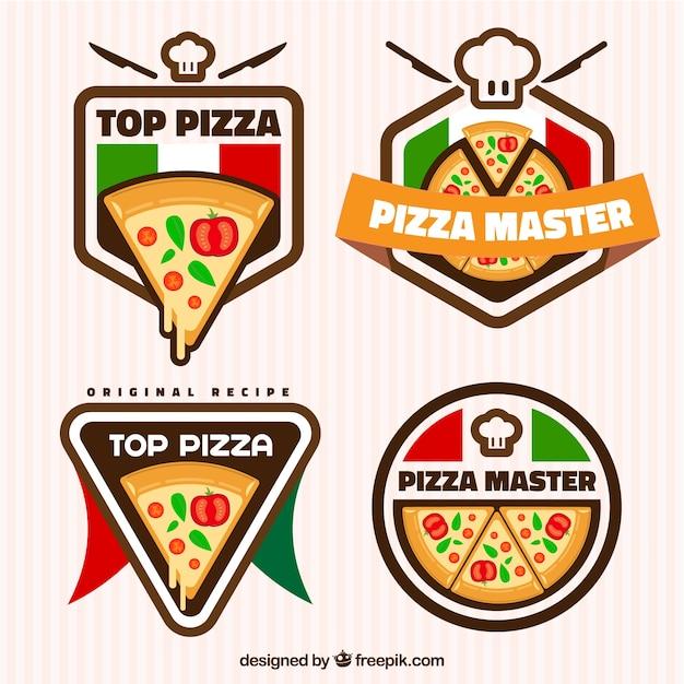 Pizza, Logos Vecteur Premium