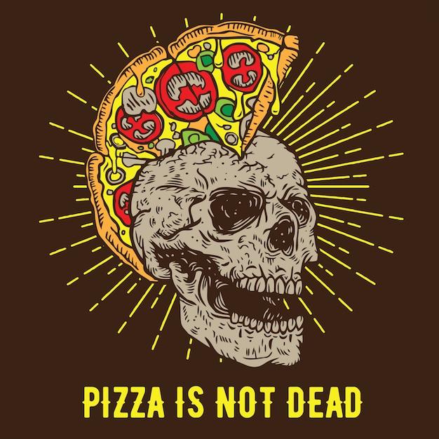 La Pizza N'est Pas Morte Vecteur Premium