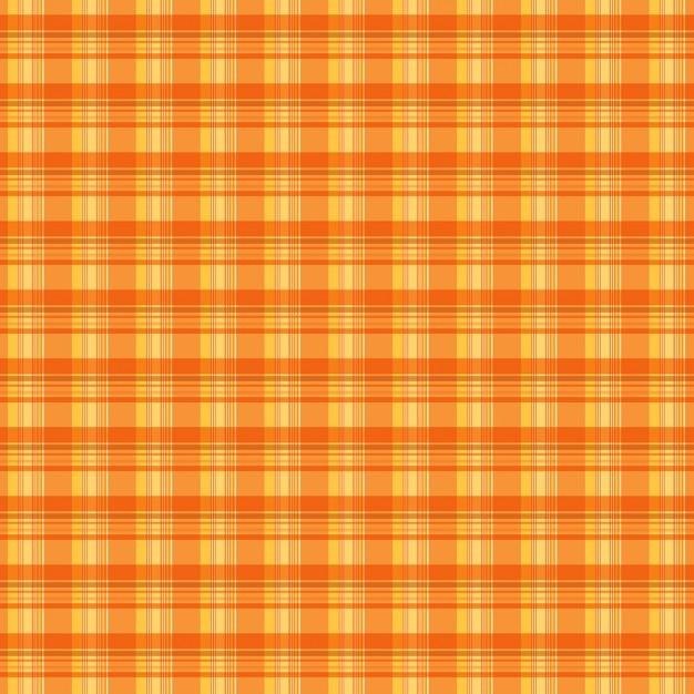 Plaid orange texture de fond Vecteur gratuit