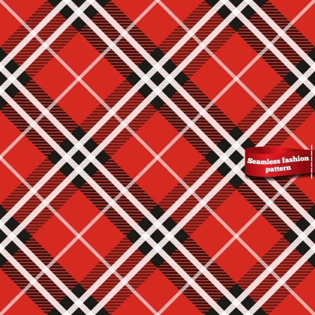 Plaid seamless dans des tons rouges Vecteur gratuit