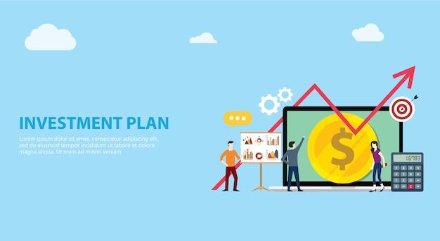 Plan d'investissement Vecteur Premium