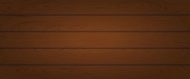 Planche de bois de chêne brun texturé Vecteur Premium