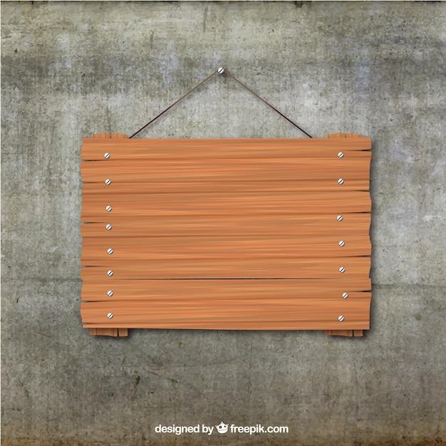 Planche de bois suspendu Vecteur gratuit