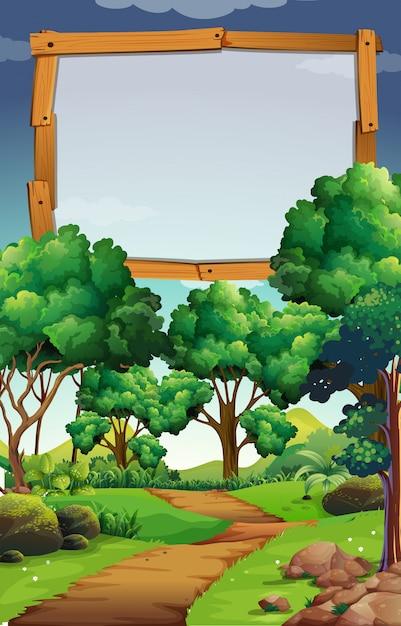Une planche de bois vierge dans la nature Vecteur Premium