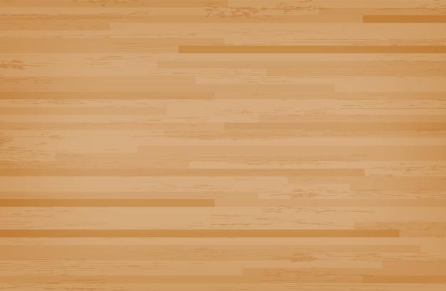 Plancher de basketball en bois franc érable. Vecteur Premium