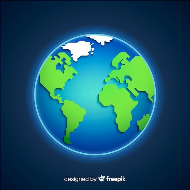 Planète Terre Classique Avec Style Dégradé Télécharger Des