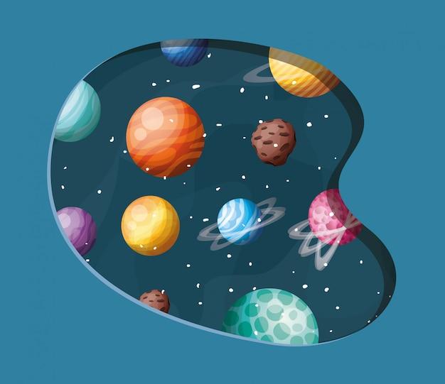 Planètes du système solaire Vecteur gratuit