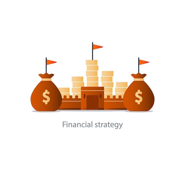 Planification Des Fonds Budgétaires, Stratégie D'investissement Financier, Vecteur Premium