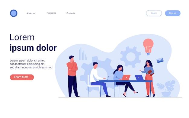 Planification Des Tâches Et Brainstorming Des Employés De L'entreprise Vecteur gratuit