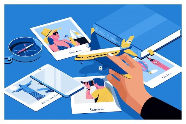 Planification touristique Vecteur Premium