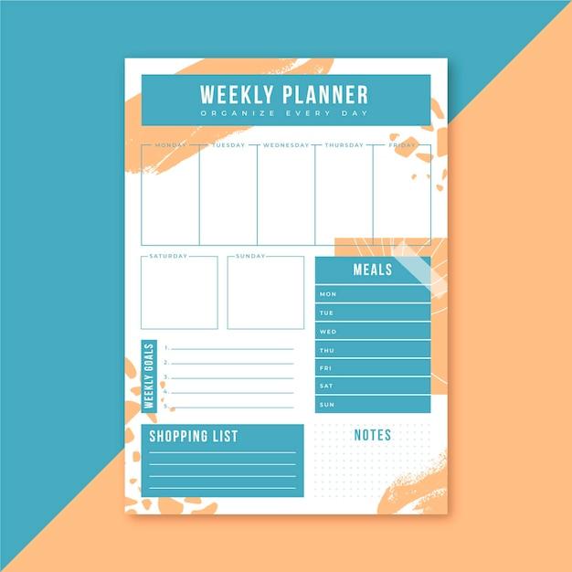 Planning Hebdomadaire Vecteur gratuit
