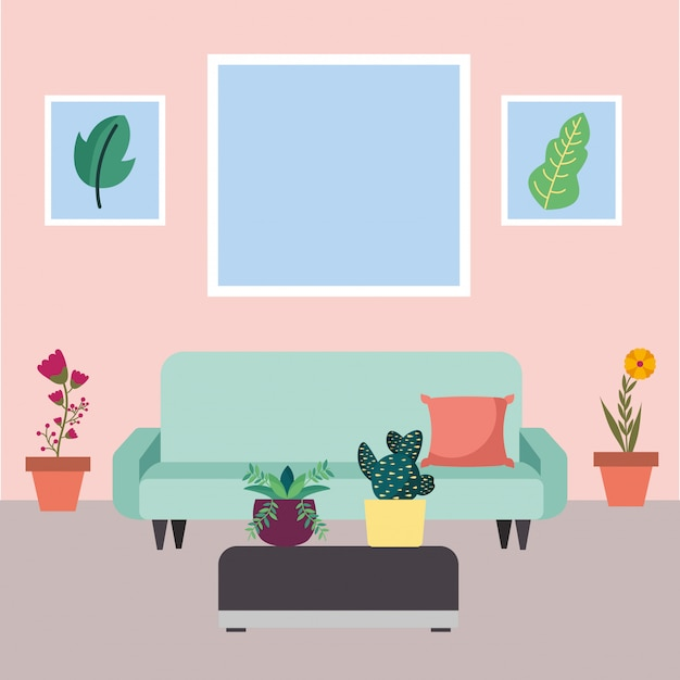 Plantes D'intérieur Isolées à L'intérieur Du Vecteur De Pots Vecteur Premium
