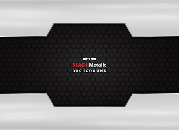 Plaque en aluminium sur fond métallique noir avec des paillettes dorées. Vecteur Premium