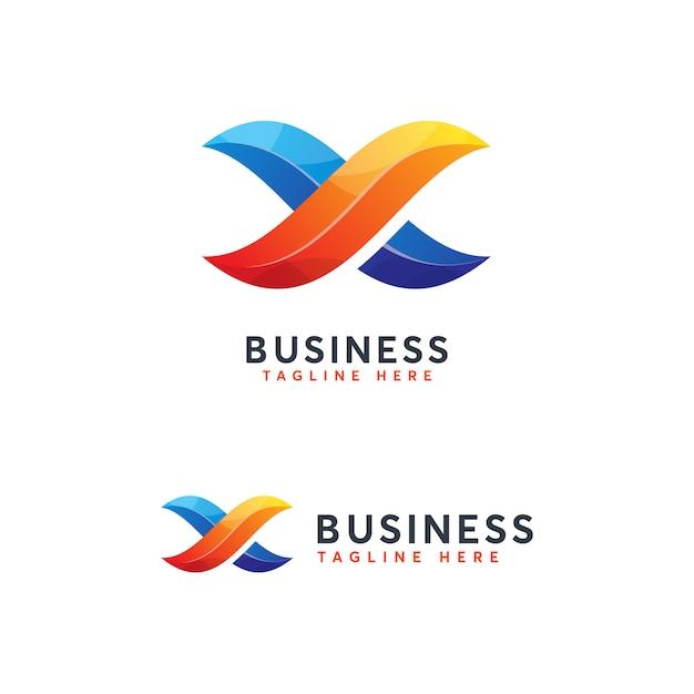 Plaque logo infinity lettre x Vecteur Premium