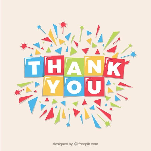 Plat Merci Composition Avec Des Confettis Vecteur gratuit