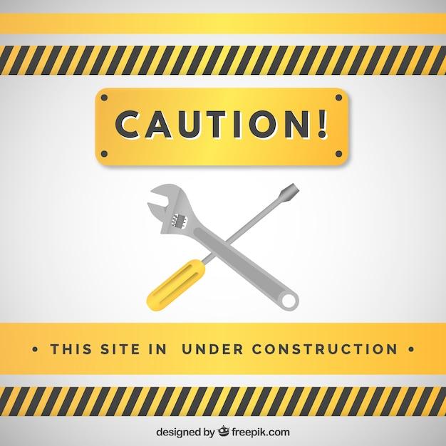Plat Sous Le Modèle De Construction Vecteur gratuit