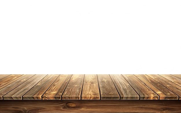 Plateau De Table En Bois Avec Surface Vieillie Vecteur gratuit