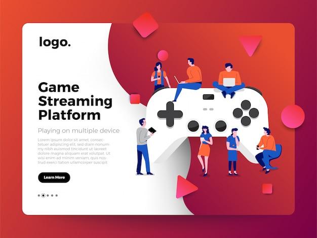 Plateforme De Streaming Pour Le Concept D'illustrations Vecteur Premium