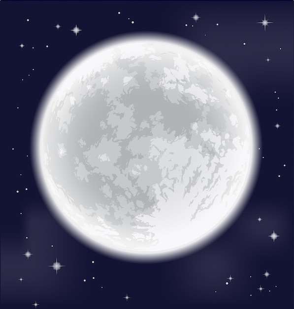 Pleine lune Vecteur Premium