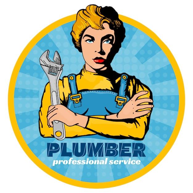 Plombier Vecteur Premium