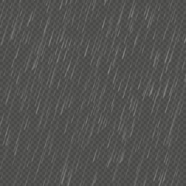 Pluie Effet Angulaire Réaliste. Modèle De Pluie De Nature Transparente. Vecteur Premium