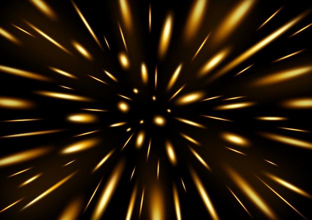 Pluie de particules scintillantes jaunes Vecteur Premium