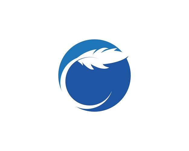 Plume icône illustration Vecteur Premium