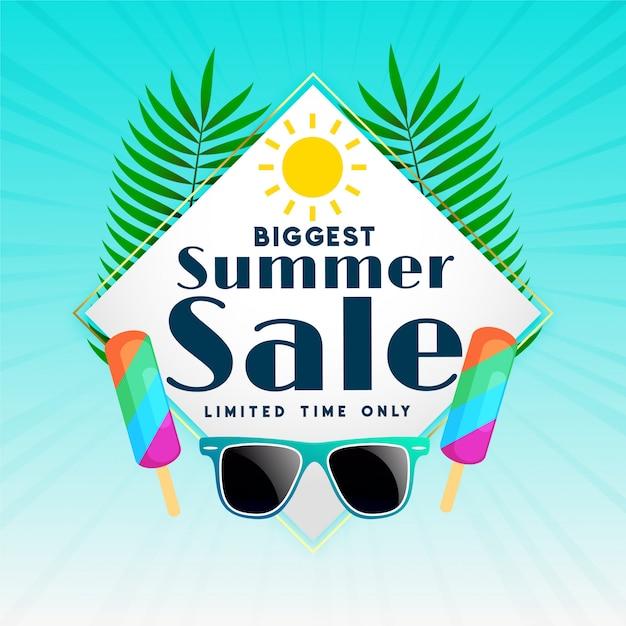 Le plus gros fond de vente d'été Vecteur gratuit
