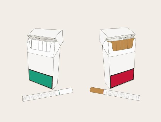 Poche à cigarettes Vecteur Premium