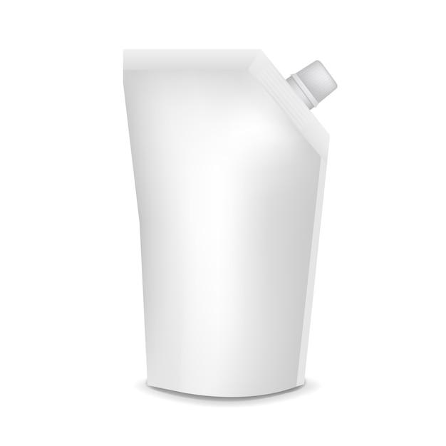 Pochette en plastique avec fond transparent Vecteur Premium