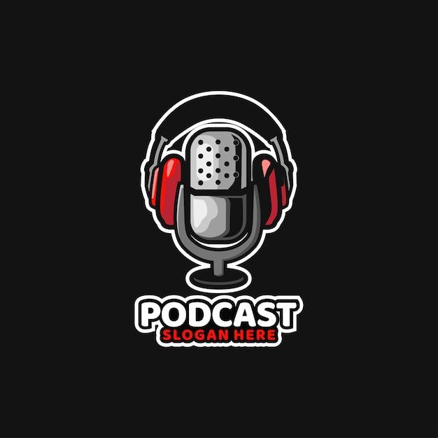 Podcast Son Médias Radio Musicac Vecteur Premium
