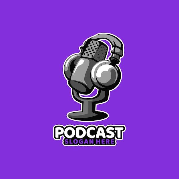 Podcast Son Médias Radio Musique Vecteur Premium