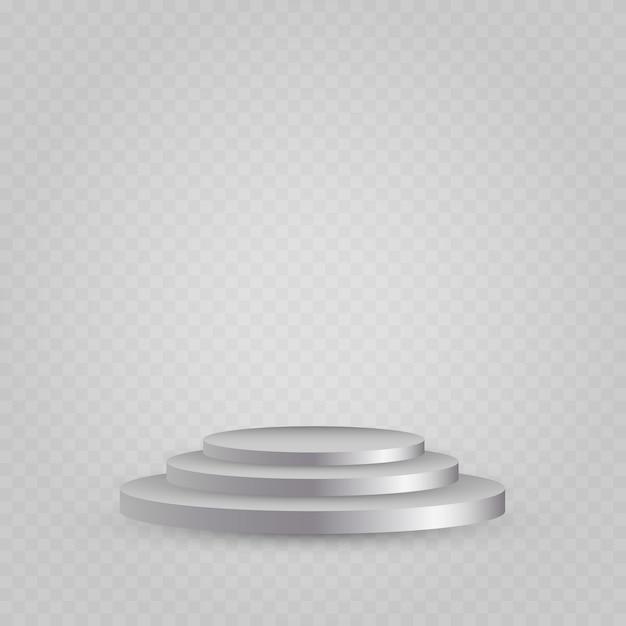 Podium Blanc Vecteur Premium