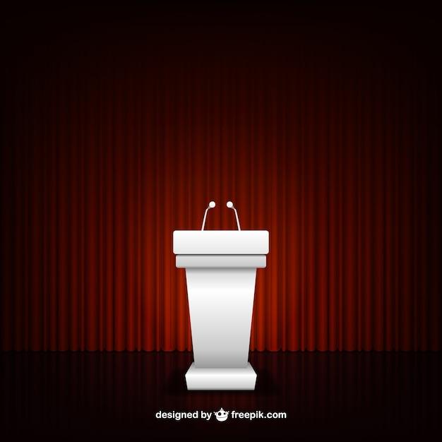 Podium de conférence Vecteur gratuit