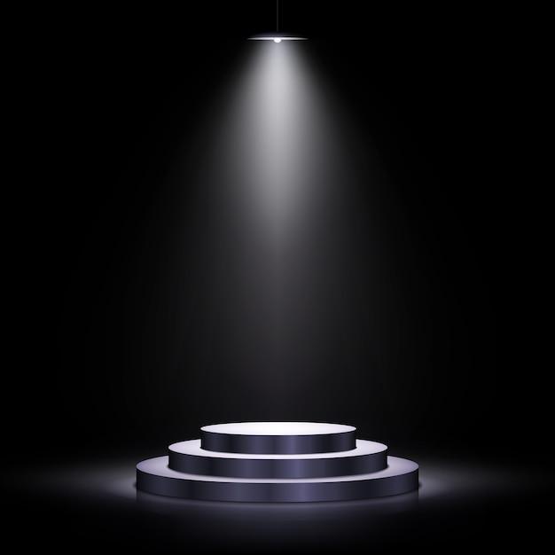 Podium Avec éclairage Vecteur Premium