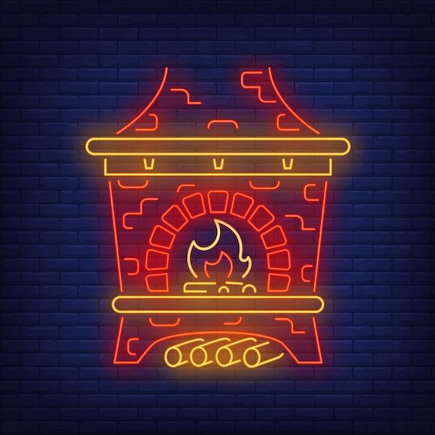 Poêle russe rouge en néon Vecteur gratuit